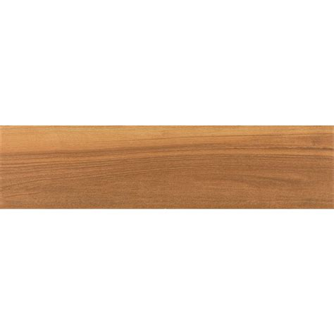 lowes wood tile shop style selections nott gunstock wood look porcelain floor and wall tile common 6 in x 24