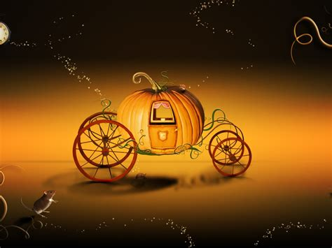 Pumpkin Cart Desktop Wallpaper Hd Wallpapers