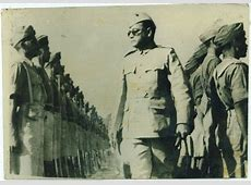 Netaji Subhas Chandra Bose Reviewing the Troops of Azad