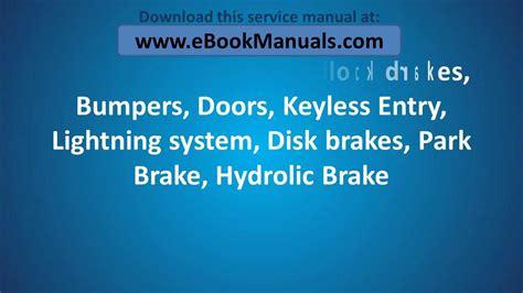 car repair manual download 2003 kia sedona lane departure warning 2002 2003 2004 2005 kia sedona owner s service repair manual pdf workshop online download
