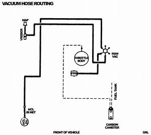 Vaccuum Line Diagram For 1997 S-10 W   4 3l V6 Vortec