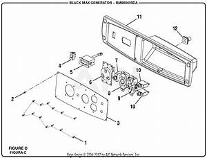 Homelite Bm903655da 3650 Watt Generator Parts Diagram For