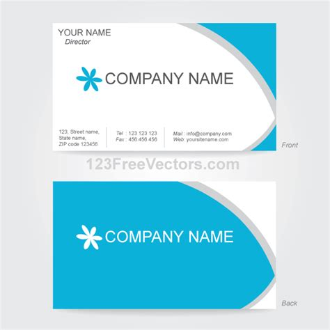 Free Business Card Template Vector Business Card Design Template 123freevectors