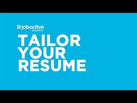Tailor Your Resume by How To Jobactive Jobsearch Jobactive Jobsearch