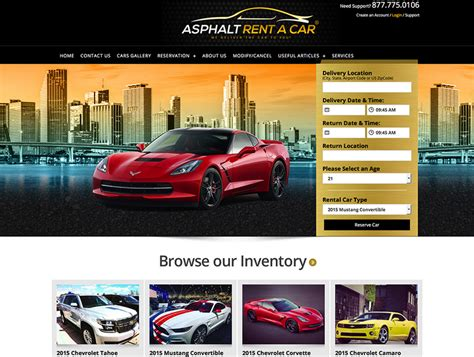 Car Designer Website by Cars And Transportation Website Design Miami Cars And