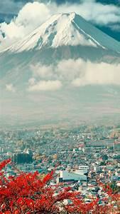 Download Mount Fuji Japan City iPhone 6 Wallpaper | Phone ...