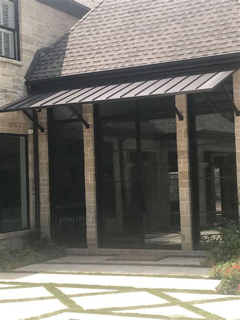 entryway awning standing seam metal roof awning metalawning frontdoorawning homeimprovement