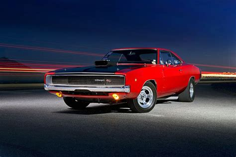 Classic Muscle Car, Red Dodge Charger Wallpaper
