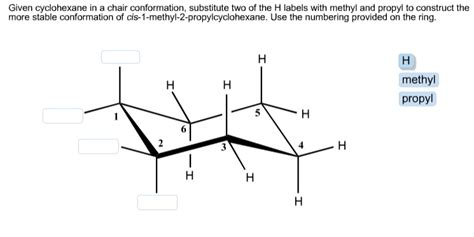 How To Draw A Boat Using Figure 8 by Solved Given Cyclohexane In A Chair Conformation Substit