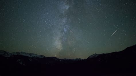 4k Time Lapse Of Milky Way Galaxy Stars In Rocky Mountains