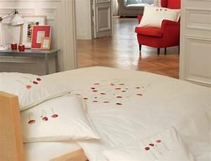 linge de lit gentil coquelicot With chambre bébé design avec fleur coquelicot en tissu