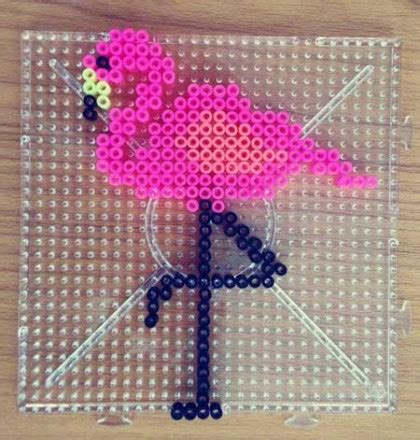 buegelperlen bild flamingo deko einfach selbermachen