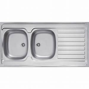 Evier Inox Brossé : evier de cuisine avec meuble evier avec plaque de cuisson ~ Premium-room.com Idées de Décoration