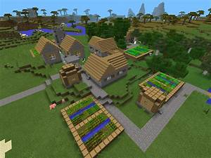 Village at Spawn, Diamonds Below - Epic Minecraft PE Seeds