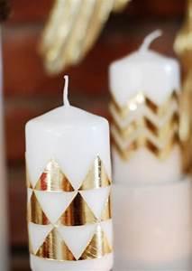 Kerzen Verzieren Weihnachten : kerzen mit wachsplatten beklebt handmade pinterest geschenk oma oma und opa und ~ Eleganceandgraceweddings.com Haus und Dekorationen