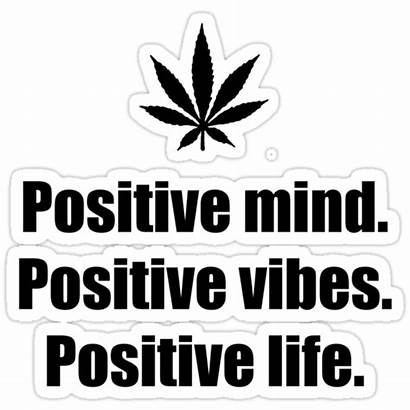 Positive Vibes Mind Stickers Sticker Redbubble