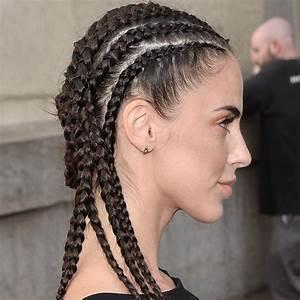 Coiffeuse Noir Et Blanche : les tresses coll es un intemporel de la coiffure parfait pour l 39 t cheveux pinterest ~ Teatrodelosmanantiales.com Idées de Décoration