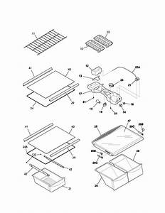 Shelves Diagram  U0026 Parts List For Model 25363712302 Kenmore