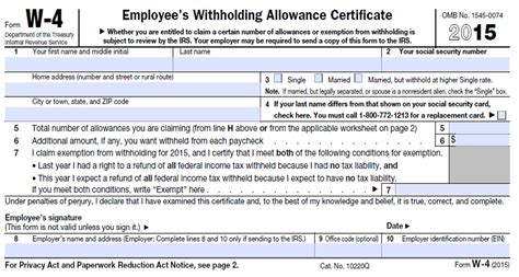 withholding form irs