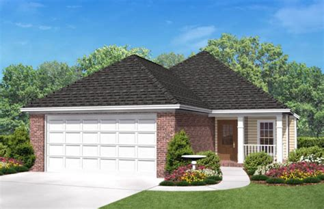 narrow lot house plans with rear garage country style house plan 3 beds 2 baths 1500 sq ft plan