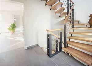 Treppen Teppich Modern : schneider treppenbau moderne holz metalltreppe das fachportal f r den treppenbau ~ Watch28wear.com Haus und Dekorationen