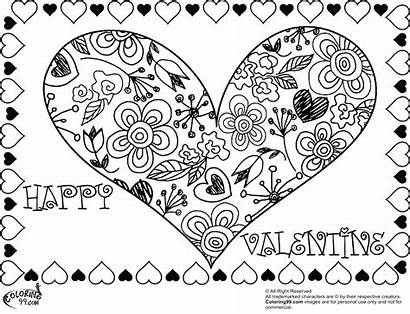 Coloring Pages Valentine Pdf Valentines Printable Getcolorings