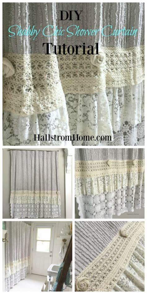 shabby chic curtain tutorial diy shabby chic shower curtain tutorial hallstrom home