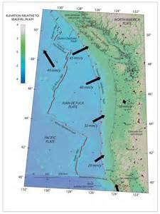 Cascadia Subduction Zone Fault Line