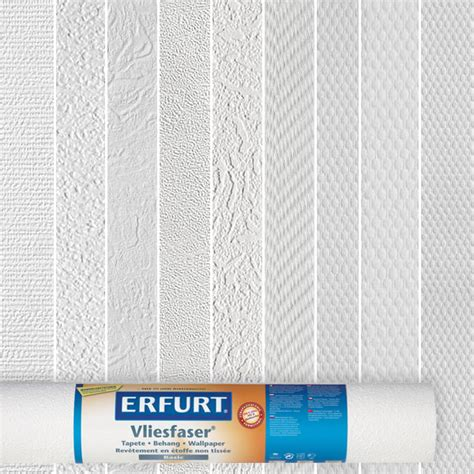 Erfurt Vliesfaser Basic Tapete Strukturauswahl Weiß