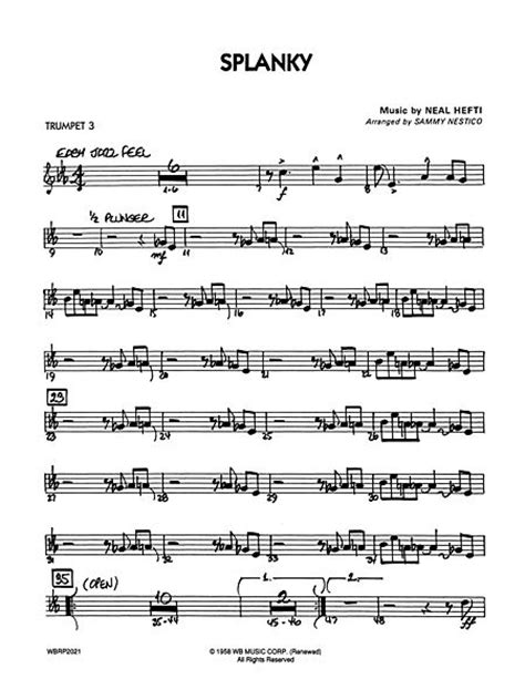 neal hefti sheet music to download and print world