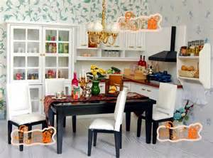 white kitchen set furniture 1 12 scale doll house furniture miniature white and black modern kitchen set 8 jpg