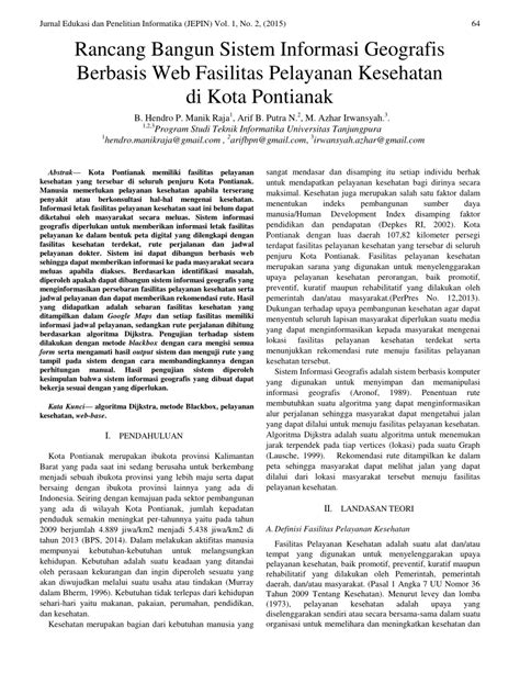 (PDF) Rancang Bangun Sistem Informasi Geografis Berbasis