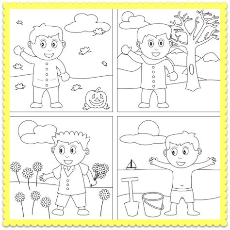 a four seasons coloring worksheet let s color the four 679 | 99d054832c6f93a925b20cacb48c3a08