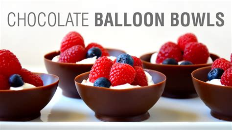 how to make chocolate bowls how to make chocolate balloon bowls youtube