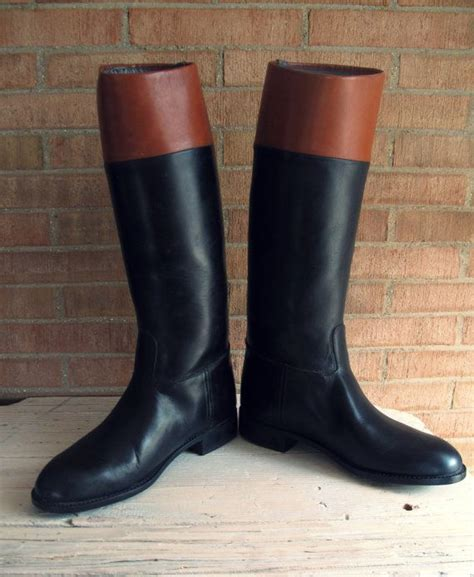 vintage leather cavalry boots vintage mens horse riding