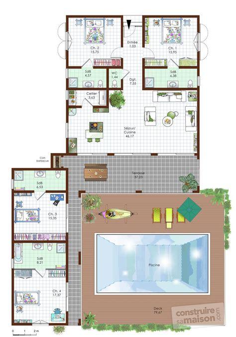 construire un ilot central cuisine une maison de standing dé du plan de une maison de