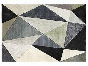 tapis 133x190 cm angle coloris gris gris fonce vente de With tapis gris grande taille