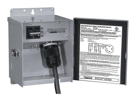 transfer switch reliance controls corporation csr202 easy transfer switch for generators up to