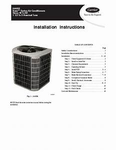 Carrier 24abr 1si Heat Air Conditioner Manual
