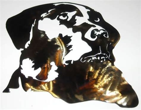 hand  dog silhouette wall art  superior iron artz