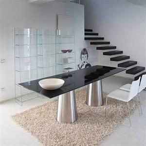 Table à Manger En Verre : photo table de salle a manger en verre ~ Teatrodelosmanantiales.com Idées de Décoration