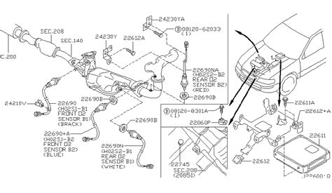 2002 Nissan Maxima Motor Diagram by 22690 2y920 Genuine Nissan 226902y920 Heated Oxygen Sensor