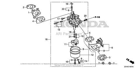 Honda Carb Diagram Cleaning by Honda Eg5000cl At1 Generator Chn Vin Ebec 1000001 Parts