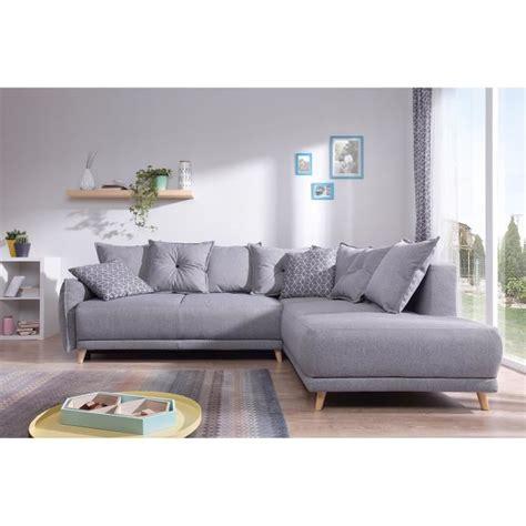 canape luxe solde lena canapé scandinave d angle droit gris clair