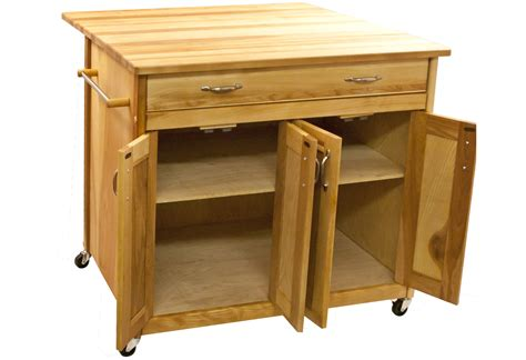 oak kitchen island cart catskill craftsmen island with flat panel doors and 3577