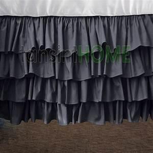 800tc, Egyptain, Cotton, Multilayered, Ruffle, Elephant, Grey, By, Tansint, 64, 99