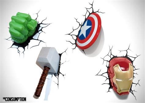 the avengers 3d wall art night lights hiconsumption