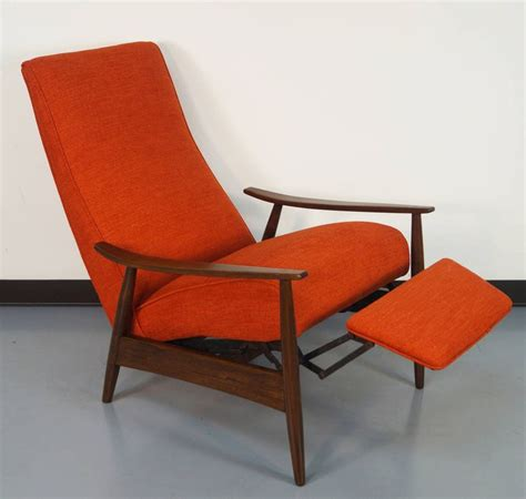 vintage reclining lounge chair by milo baughman modern
