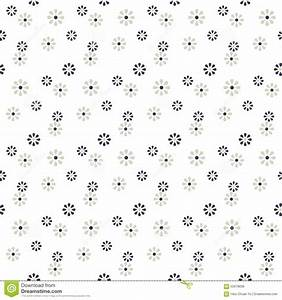 Seamless Cute Daisy Flower Pattern Background. Stock ...