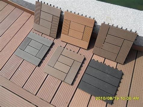 wood plastic composite diy easy decking tiles edt